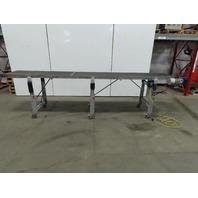 """Dorner 144"""" (12') Slider Bed Belt Conveyor 24"""" Wide 0-60 FPM 115V Single Phase"""