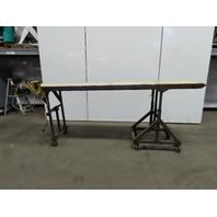 "Heavy Duty 24""W x 120""L Slide Bed Belt Conveyor 115V Single Phase 80FPM"