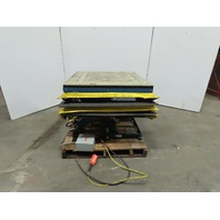 """Southworth LS2-24HC 1500lb Hyd Scissor Lift Table 36x36"""" Top 7-31"""" Ht 230/460V"""