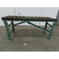 """Roach 76""""L x24"""" 21""""BF Steel Gravity Roller Conveyor 2-1/2"""" Rollers W/Legs"""