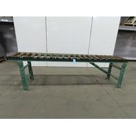 """Roach 120""""L x24"""" 21""""BF Steel Gravity Roller Conveyor 2-1/2"""" Rollers W/Legs"""