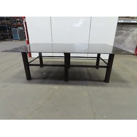 "Steel Welding Work Bench Assembly Layout Table 120""Lx 72""Wx 37""H 5/8"" Thick Top"