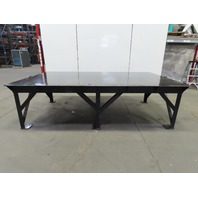 "Steel Welding Work Bench Assembly Layout Table 120""Lx 72""Wx 35""H 1/2"" Thick Top"