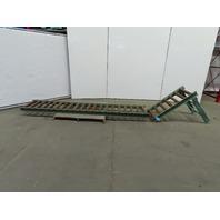 """Roach 163""""L x24"""" 21""""BF Steel Gravity Roller Conveyor 2-1/2"""" Rollers W/(1) Leg"""