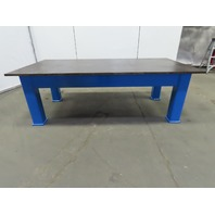 "1"" Thick Top Steel Fabrication Layout Welding Table Work Bench 97""Lx48""Wx32""H"