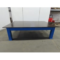 "7/8"" Thick Top Steel Fabrication Welding Layout Table Work Bench 109""Lx72""Wx32""H"