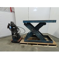 "6000 LB. Hydraulic Scissor Lift Table 60""x30"" Top 10-45"" Height 208-230/460V 3Ph"