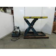 "12000 LB. Hydraulic Scissor Lift Table 68x30"" Top 10-59"" Height 208-230/460V 3Ph"