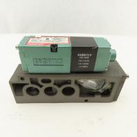 Numatics 082SA415K000030 Solenoid Valve W/229-676 Base 120V Coil