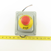 Hoffman ED1PBXM Enclosure W/Allen Bradley  800F-X01S SER. A Twist Lock E-Stop