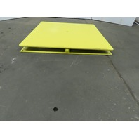 "48""x48"" Pallet/Box /Basket Material Handling 360° Turn table 3-3/4"" High"