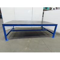 "1/2"" Thick Top Steel Fabrication Welding Layout Table Work Bench 120""Lx73""Wx37""H"