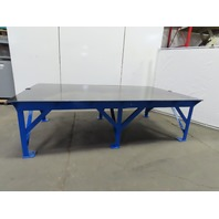 "Steel Welding Work Bench Assembly Layout Table 120""Lx72""Wx35""H 1/2"" Thick Top"