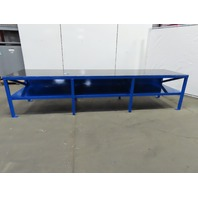 "1/2"" Top Steel Fabrication Layout Welding Table Work Bench 36-1/2""Wx144""Lx32""H"