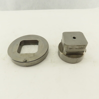 2.000 Act. Rounded Square Hole .350 Radius Die CNC Turret Punch Shank 2.750 Lt/2