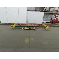 1/2 Ton Ceiling Mounted Single Girder Bridge Crane 14' Span x 40' Runway