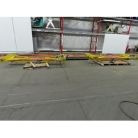 "1 Ton Ceiling Mounted Double (2) Bridge Cranes 116"" Span x 100' Runway"