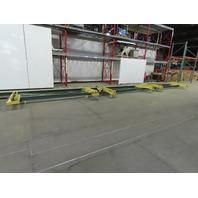 "1 Ton Ceiling Mounted Triple (3) Bridge Cranes 124"" Span x 61' Runway"
