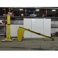 Dayton 4ZX02 1/2 Ton Capacity Floor Mounted Jib Crane 14' Span 10' Under Beam