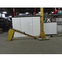 Handling Systems 1/2 Ton Cap. Floor Mounted Jib Crane 10' Span 12' Under Beam