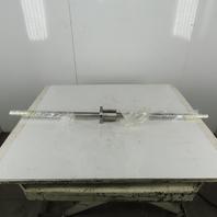 Roberts 36mm Ball Screw 10mm Lead 2 Turns Per Inch W/ Nut 1100 mm Approx. Travel
