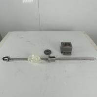 Yamazen X-Axis Ball Screw 20mm OD 10mm Lead 2 Turns Per Inch 825mm Screw Length