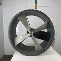 "Dayton 3C128 42"" Tubeaxial Spray Booth Belt Driven Non-HAZLOC Exhaust  Fan"