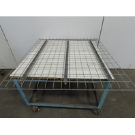 "48"" x 46"" Double Waterfall Wire Decks Pallet Racking Shelf 2,500 lbs Cap NEW"