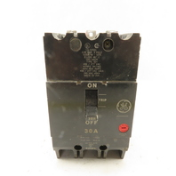 General Electric Type TEY 30A 480V 3Ph 3 Pole Circuit Breaker