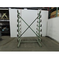 "Heavy Duty Cantilever Steel Rack Double Sided 63""L x 49""W x98""H Material Storage"