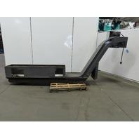 """152"""" Incline Magnetic Chip Conveyor 11"""" Belt 48"""" Discharge 3.5FPM 208-230/480V"""