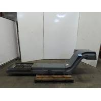"""Incline Cleated Chip Conveyor 14"""" Belt 20"""" Discharge 4FPM 208/220 3Ph"""