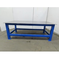 """3/8 Thick Top Steel Fabrication Welding Layout Table Work Bench 96""""x48-5/8""""x36"""""""