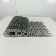 "18"" x 9'9"" Honeycomb Galvanized Steel Mesh Conveyor Belt Washdown"
