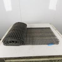 "24"" x 14' Honeycomb Galvanized Steel Mesh Conveyor Belt Washdown Repair Patch"