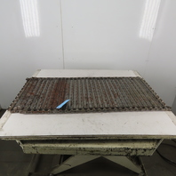 """20"""" Wide 48"""" Steel Hinge Chip Conveyor Chain Belt Winged 1.576""""/40MM Pitch"""