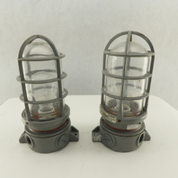 Killark VXFC-100-N34 Explosion Proof Light Fixture /Globe/Guard 150W Lot of 2