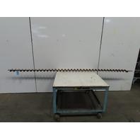 "3-3/8"" Diameter x 3-1/2"" Pitch x 137"" Long Carbon Steel Conveyor Auger Screw"