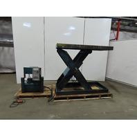 "10000LB Hydraulic Scissor Lift Table 68x30"" Top 11 - 59"" Height 208-230/460V 3Ph"