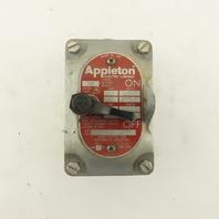 Appleton EDS175-F1 120/240-277VAC 2 Hp Hazardous Location HAZLOC Switch