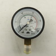 "OSAKA 60480002 3"" Bottom Mount Pressure Gauge 0-250 PSI 3/8"" NPT"