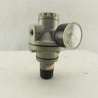 "SMC AR435 Precision Pneumatic Air Regulator 0.02-0.20 MPa 1/4"" NPT"