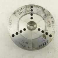 "Northfield AL36345 6"" Air Chuck Aluminum Pie Jaw Set Of 3"