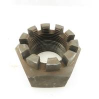 """2-3/4""""-6 Plain Finish Carbon Steel Castle Nut"""