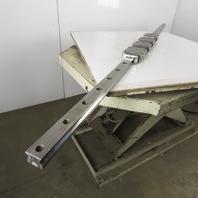 "THK SRN 45 Linear Guide Rail Bearings 92-11/16"" OAL W/4 Caged Bearing Block"