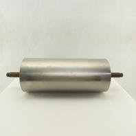 "6-3/8"" OD 15"" Face Stainless Steel Conveyor Drum Roller Pulley W/Bearings"