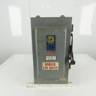 Square D H-363AWK Safety Disconnect Switch 100A 600V 3 Pole Fusible