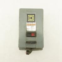 Square D 8536SC63 Ser. A Size 1 Enclosed Manual Motor Starter 7-1/2Hp