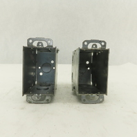 "Electrical Switch Galvanized Box 3""x2""x3-1/2"" Lot of 2"