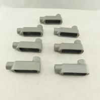 "Appleton 1/2"" LB Form 35 Unilet Conduit Fitting  Malleable Iron Lot of 7"